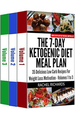 The 7-Day Ketogenic Diet Meal Plan: 35 Delicious Low Carb Recipes For Weight Loss Motivation – Volumes 1 to 3